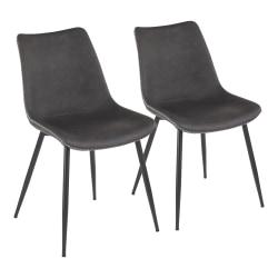 LumiSource Durango Dining Chairs, Black/Gray, Set Of 2 Chairs