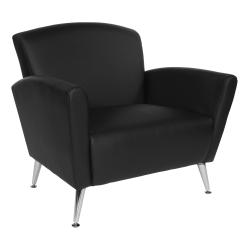 Office Star™ Club Chair, Dillon Black/Chrome
