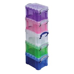 5 Pack Really Useful Box Plastic Storage Container w/Handles Deals