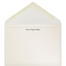 """The Occasions Group Stationery Note Cards, 4 1/2"""" x 6 1/4""""W, Flat, 3-Step Embossed Panel, Ecru Matte, Box Of 25"""