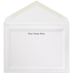 "The Occasions Group Stationery Note Cards, 4 1/2"" x 6 1/4""W, Folded, 3-Step Embossed Panel, White Matte, Box Of 25"