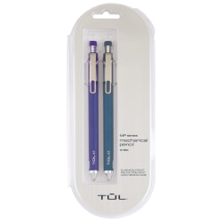 TUL® Mechanical Pencils, 0.7 mm, Navy & Royal Blue Barrels, Pack Of 2