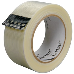 "3M™ 8932 Strapping Tape, 3"" Core, 1"" x 60 Yd., Clear, Case Of 12"