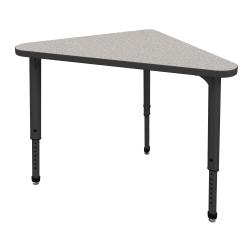 Marco Group Apex™ Series Triangle Student Desk, Gray Nebula/Black