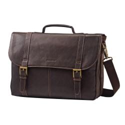 "Samsonite® Leather Portfolio, 12"" x 16.5"" x 5"", Brown"