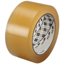 "3M™ 764 Vinyl Tape, 3"" Core, 2"" x 36 Yd., Clear, Case Of 6"