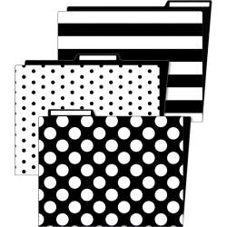 Schoolgirl Style Simply Stylish Classroom File Folders - Multi-colored - 6 / Pack