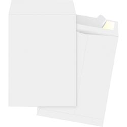 """Business Source Tyvek Open-end Envelopes - Catalog - #10 1/2 - 9"""" Width x 12"""" Length - Peel & Seal - Tyvek - 100 / Box - White"""