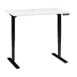 """Bush Business Furniture Move 80 Series 48""""W x 30""""D Height Adjustable Standing Desk, White/Black Base, Standard Delivery"""