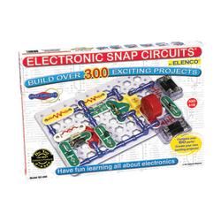 "Elenco Electronics Snap Circuits® 300 Experiments Kit, 2 1/4""H x 13 1/2""W x 18 3/4""D, Grades 3-12"
