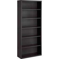 "Lorell® Fortress Series 82"" 6 Shelf Contemporary Bookcase, Gray/Dark Finish, Standard Delivery"