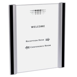 """ALBA Document Holder For Walls And Doors, 8 1/2"""" x 11"""""""