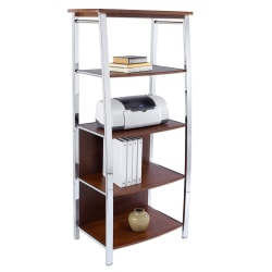 "Realspace® Mezza 60"" 4 Shelf Contemporary Bookcase, Multicolor/Medium Finish, Standard Delivery"