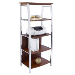 """Realspace® Mezza 60"""" 4 Shelf Contemporary Bookcase, Multicolor/Medium Finish"""