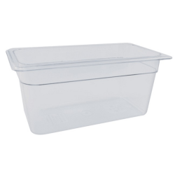 Cambro 1/3 Size Camwear Food Pan, Clear