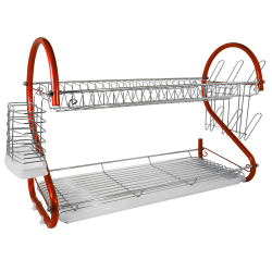 """Better Chef DR-225R 2-Tier Dish Rack, 22"""", Red"""