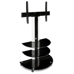 "Mount-It Rolling TV Cart For 30"" - 70"" Screens, Black"