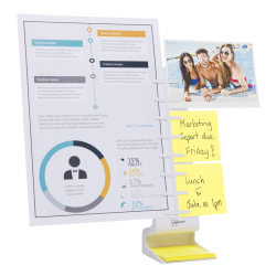 "NoteTower Desktop Pro Memo Holder, 14-1/4""H x 3-1/2""W x 4-5/16""D, White"