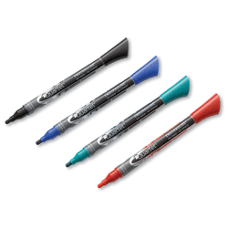 Quartet® EnduraGlide® Dry-Erase Marker, Fine Point, Assorted Colors, Pack Of 4