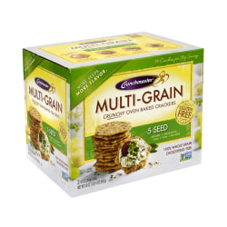 Crunchmaster 5-Seed Multigrain Crunchy Oven-Baked Crackers, 20 Oz Box