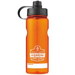 Ergodyne Chill-Its® 5151 Wide Mouth Water Bottle, 34 Oz, Orange