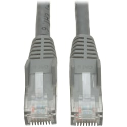Tripp Lite 15ft Cat6 Gigabit Snagless Molded Patch Cable RJ45 M/M Gray 15' - Category 6 for Network Device - 15ft - 1 x RJ-45 Male Network - 1 x RJ-45 Male Network - Gray