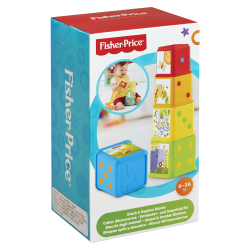 Fisher-Price Stack/Explore Blocks - Skill Learning: Color, Number, Object, Fine Motor, Eye-hand Coordination, Self-confidence, Thinking, Problem Solving, Feeling - 6 Month - 3 Year