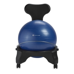 Gaiam Classic Balance Ball Chair, Blue