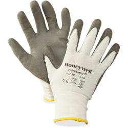 NORTH Workeasy Dyneema Cut Resist Gloves - Polyurethane Coating - Large Size - High Performance Polyethylene (HPPE) Liner - Gray, Light Gray - Cut Resistant, Flexible, Abrasion Resistant, Lightweight, Puncture Resistant, Comfortable, Durable, Knitted
