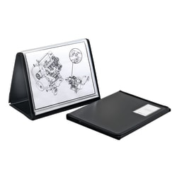 """Office Depot® Brand ShowFile™ Easel Display Book, Horizontal Style, 8 1/2"""" x 11"""", Black"""