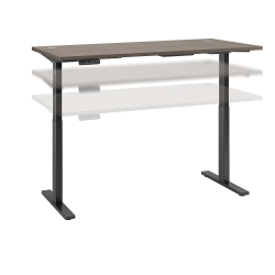 """Bush Business Furniture Move 60 Series 72""""W x 30""""D Height Adjustable Standing Desk, Cocoa/Black Base, Standard Delivery"""