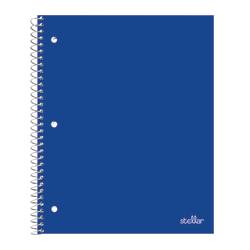 "Office Depot® Brand Stellar Poly Notebook, 8"" x 10 1/2"", 1 Subject, Wide Ruled, 200 Pages (100 Sheets), Blue"
