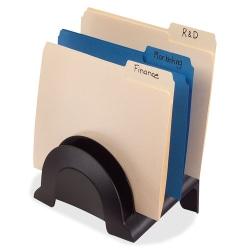 "Rubbermaid 6-Compartment Incline Sorter - 6 Compartment(s) - 9.5"" Height x 6.4"" Width x 7.4"" Depth - Desktop - Eco-friendly - 25% - Black - Plastic - 1 Each"