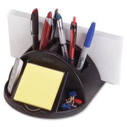 "Rubbermaid® Regeneration Desktop Organizer, 3 3/5""H x 6 4/5""W x 6 7/10""D, Black"
