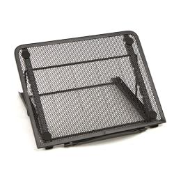 "Mind Reader Adjustable Mesh Tablet Stand Organizer, 7.25""H x 9.25""W x 7.5""D, Black, MESHTAB-BLK"