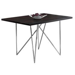 "Monarch Specialties Elias Dining Table, 30""H x 47-1/2""W x 31-1/2""D, Cappuccino"