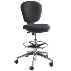 Safco® Metro™ Extended Height Chair, Chrome/Black