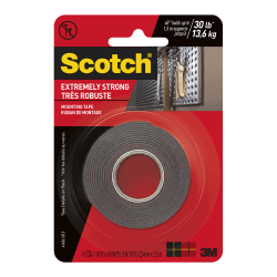 "Scotch® Extreme Mounting Tape, 1"" x 60"", Black"