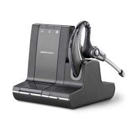 Plantronics® Savi™ 730-M Wireless Headset System, Black/Silver