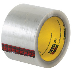 """3M® 372 Carton Sealing Tape, 3"""" x 55 Yd., Clear, Case Of 24"""