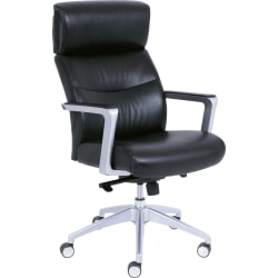 La-Z-Boy® Big And Tall Bonded Leather Executive High-Back Chair, Black