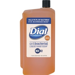 Dial Original Gold Antimicrobial Soap Refill - 33.8 fl oz (1000 mL) - Kill Germs - Skin, Hand - Orange - 1 Each