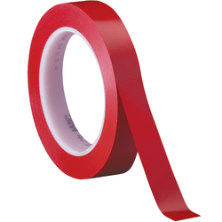 "3M™ 471 Vinyl Tape, 3"" Core, 0.5"" x 36 Yd., Red, Case Of 72"