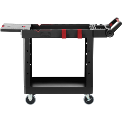"""Rubbermaid Commercial Heavy Duty Adaptable Utility Cart - Push/Pull Handle - 520 lb Capacity - 4 Casters - 4"""" Caster Size - Plywood, Foam - 46.2"""" Length x 17.8"""" Width x 36"""" Height - Black - 1 Each"""