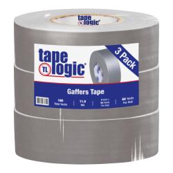 "Tape Logic Gaffers Tape, 2"" x 60 Yd, Gray, Pack Of 3 Rolls"