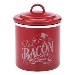 """Ayesha Curry Bacon Grease Can, 4"""", Red Metallic"""