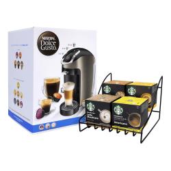 Nestlé® NESCAFE Dolce Gusto Esperta 2 Coffeemaker With Starbucks Coffee And Rack, Silver/Black