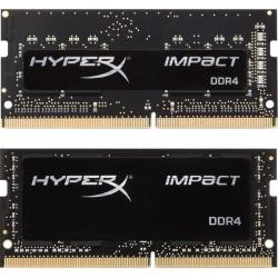 HyperX Impact - DDR4 - kit - 16 GB: 2 x 8 GB - SO-DIMM 260-pin - 2666 MHz / PC4-21300 - CL15 - 1.2 V - unbuffered - non-ECC - black