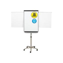 "Quartet® Prestige® 2 Mobile Presentation Easel, Magnetic Whiteboard/Flipchart, 2' x 3', Graphite Finish Frame - 24"" (2 ft) Width x 36"" (3 ft) Height - White Painted Steel Surface - Graphite Aluminum Frame - Vertical - 1 / Each"
