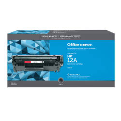 Office Depot® Brand 12A Remanufactured Toner Cartridge Replacement For HP 12A Black